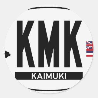 こんにちはKAIMUKIステッカー ラウンドシール