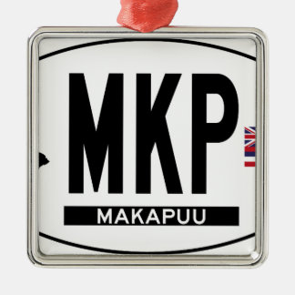 こんにちはMAKAPUUステッカー メタルオーナメント