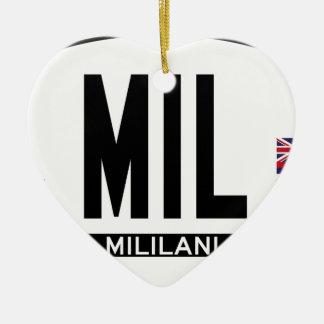 こんにちはMILILANIステッカー セラミックオーナメント