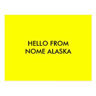 こんにちはNOMEアラスカから ポストカード