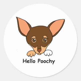 こんにちはPoochy ラウンドシール