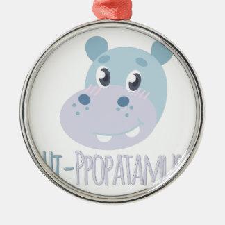 こんにちはppopatamus メタルオーナメント