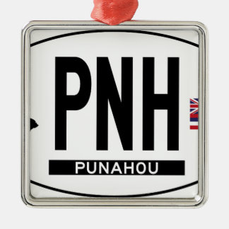 こんにちはPUNAHOUステッカー メタルオーナメント