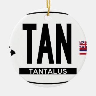 こんにちはTANALUSステッカー セラミックオーナメント