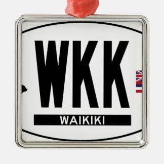 こんにちはWAIKIKIステッカー メタルオーナメント