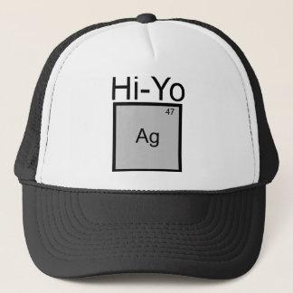 こんにちはYo銀(Ag)の要素のしゃれのTシャツ キャップ