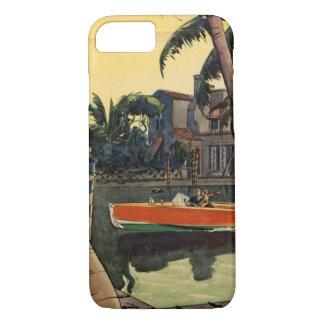 ごまかしのモータ速度のボートのジャングルの巡航 iPhone 8/7ケース