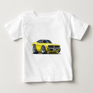 ごまかしの充電器の黄色車 ベビーTシャツ