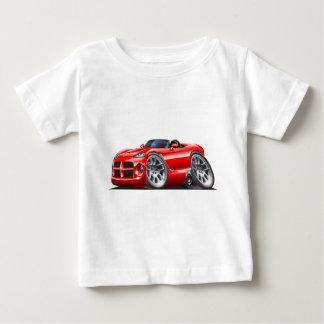 ごまかしの毒蛇のロードスターの赤車 ベビーTシャツ