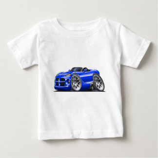 ごまかしの毒蛇のロードスターの青車 ベビーTシャツ