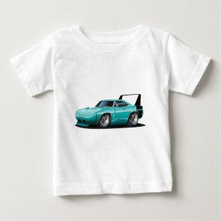 ごまかしのDaytonaのティール(緑がかった色)車 ベビーTシャツ