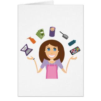 ごまかすお母さん(ブルネット) カード