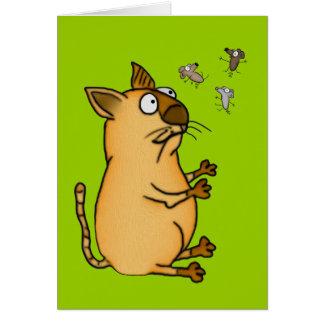 ごまかす猫 カード