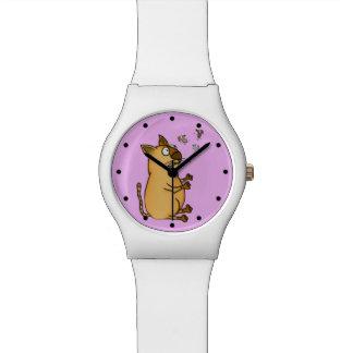 ごまかす猫 腕時計