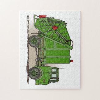 ごみ収集車の緑 ジグソーパズル