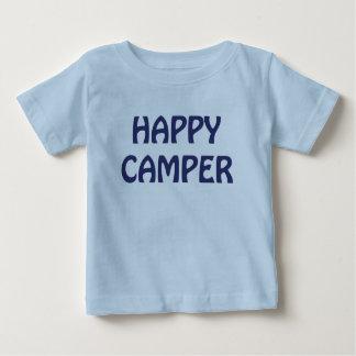 ご機嫌な人のバックパックの幼児青いTシャツ ベビーTシャツ
