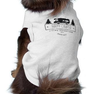 ご機嫌な人犬 かわいいキャンプのRVs RVers RVing ペット服