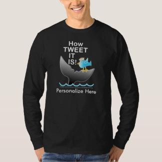-さえずりがそれあるかいかに長袖の暗いティー! Tシャツ