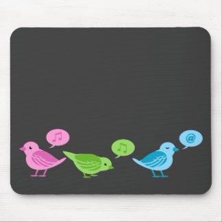 さえずりさえずりさえずりのおもしろいなtwitterの鳥 マウスパッド