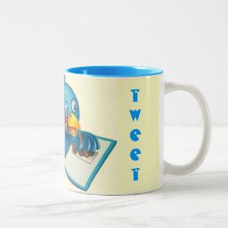 さえずりのさえずりの青のマグ ツートーンマグカップ