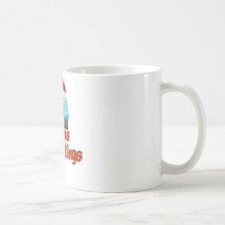 さえずりの目-季節のごあいさつ コーヒーマグカップ