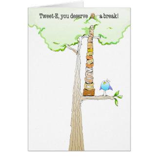 さえずりのE. Doodleのメッセージカード カード