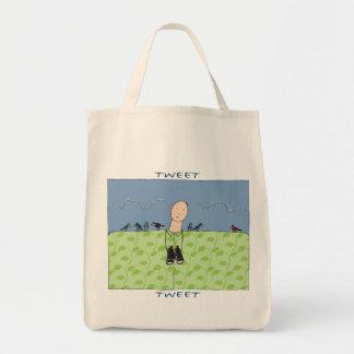 さえずり、さえずりのバッグ トートバッグ