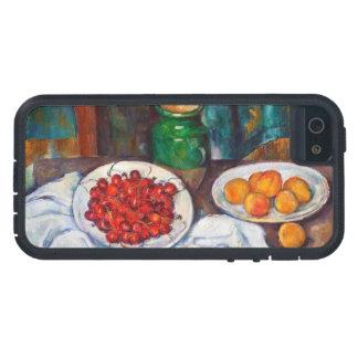 さくらんぼおよびモモが付いているポールセザンヌの静物画 iPhone SE/5/5s ケース