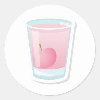 さくらんぼが付いているピンクの打撃 ラウンドシール