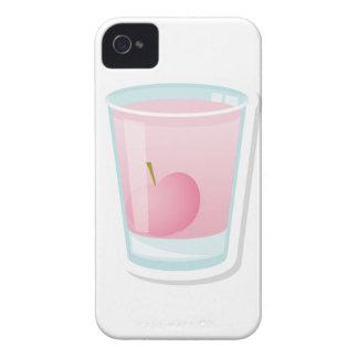 さくらんぼが付いているピンクの打撃 Case-Mate iPhone 4 ケース