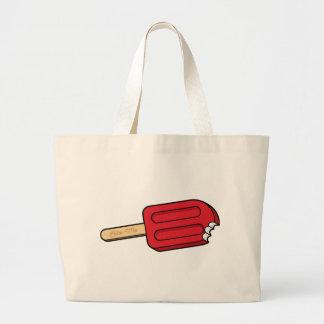 さくらんぼのアイスキャンデーは私をトートかみます ラージトートバッグ