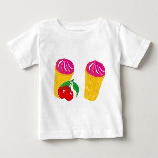 さくらんぼのアイスクリーム ベビーTシャツ
