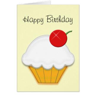 さくらんぼのカップケーキの芸術 カード