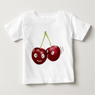 さくらんぼのキス ベビーTシャツ