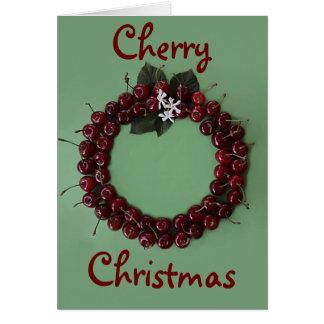 さくらんぼのクリスマス カード