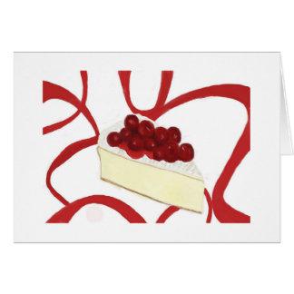 さくらんぼのチーズケーキの挨拶状 カード