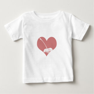 さくらんぼのハート ベビーTシャツ