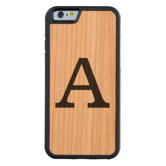 さくらんぼのモノグラムが付いている木製の私電話6箱 CarvedチェリーiPhone 6バンパーケース
