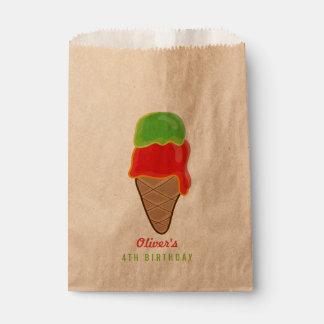さくらんぼのライムのアイスクリームの男の子の夏の誕生会 フェイバーバッグ