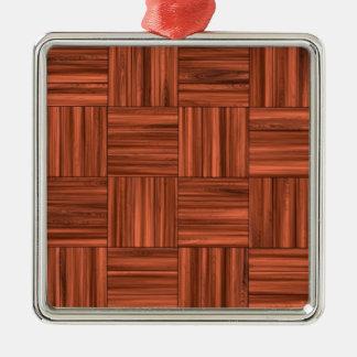 さくらんぼの木製の寄木細工の床床パターン メタルオーナメント