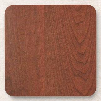 さくらんぼの木製の終わりの買物のブランクのblancheは文字IMGを加えます コースター
