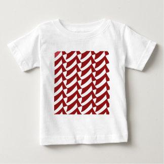 さくらんぼの赤と白の点検 ベビーTシャツ