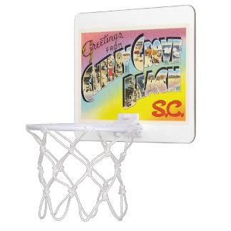 さくらんぼ果樹園のビーチのサウスカロライナSCの古い郵便はがき ミニバスケットボールゴール