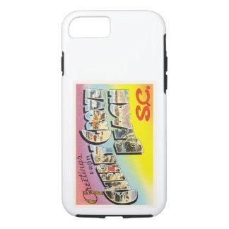 さくらんぼ果樹園のビーチのサウスカロライナSCの古い郵便はがき iPhone 8/7ケース