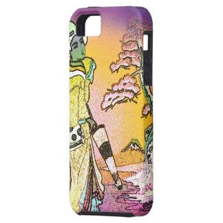 ささやく芸者の(野生の紫色か緑) - iPhoneの場合 iPhone SE/5/5s ケース