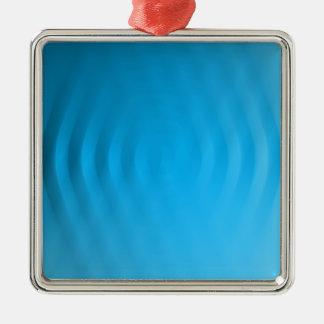 さざ波の錯覚 シルバーカラー正方形オーナメント