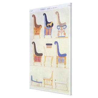 さまざまで色彩の鮮やかな座席およびarmchaiの絵 キャンバスプリント