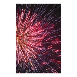 さまざまな色のカラフルな花火 便箋