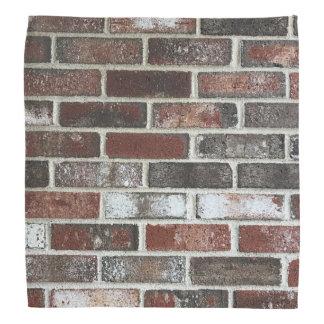 さまざまな色のレンガ壁パターン バンダナ