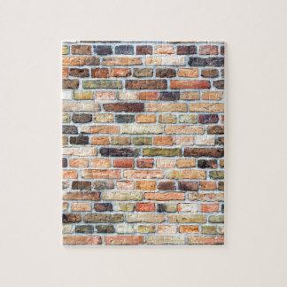 さまざまな色のレンガ壁 ジグソーパズル
